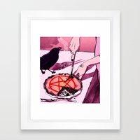 Mrs.Crowley's Old Fashioned Cherry Pie, Digital Version. Framed Art Print