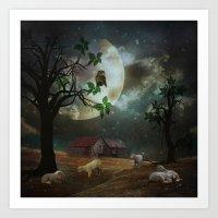 By the Moon Light Art Print