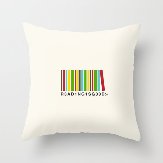 Reading is good Throw Pillow