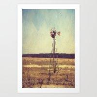 Alone On The Prairie  Art Print