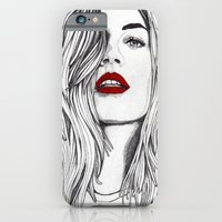 iPhone & iPod Case featuring Girl with the Red Lips by Paul Nelson-Esch /Expeditionary Club