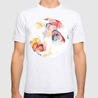 Abstract WWater Colour Mens Fitted Tee Ash Grey SMALL