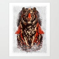 Art Print featuring Tiger  Tiger  Tiger by Derek Guidry