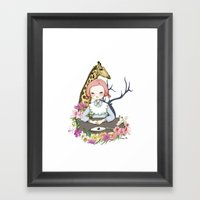 Jenny Eat Breakfast Framed Art Print