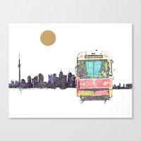 505 Street car Canvas Print