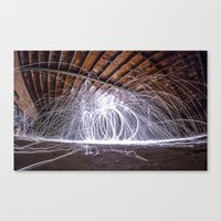 Lighting With Lightning  Canvas Print