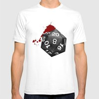 Dirty Dice Mens Fitted Tee White SMALL