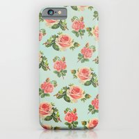 iPhone & iPod Case featuring LONGING FOR SPRING- FLORAL PATTERN by Allyson Johnson