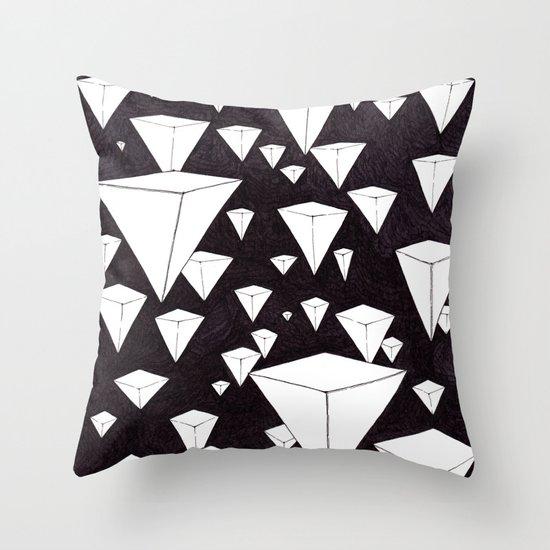 snowing pyramids II Throw Pillow