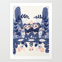 Owl Only Have Eyes For Y… Art Print