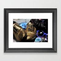Shoe ad composition 3 Framed Art Print