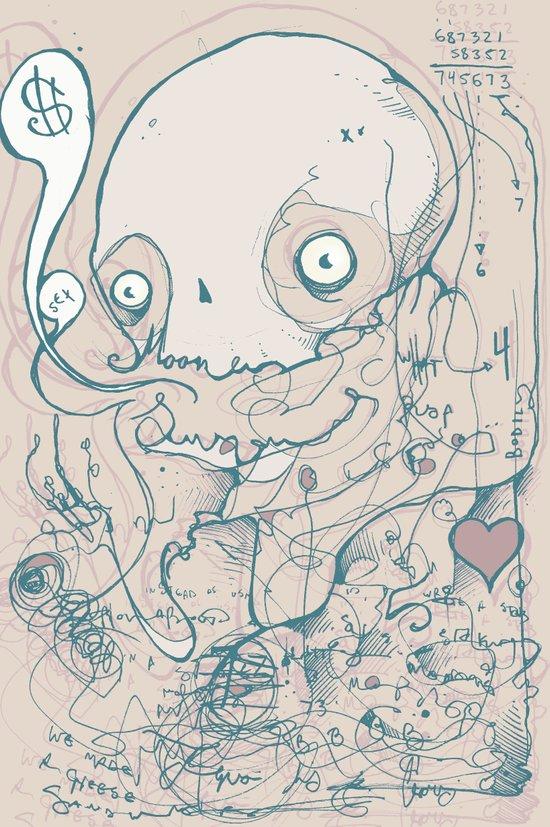 For love of money Art Print