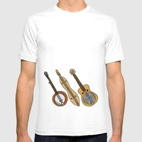 Banjo, Dulcimer, Resonat… Mens Fitted Tee White SMALL