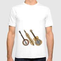 Banjo, Dulcimer, Resonat… Mens Fitted Tee White SMALL
