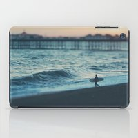 the lone surfer ... iPad Case