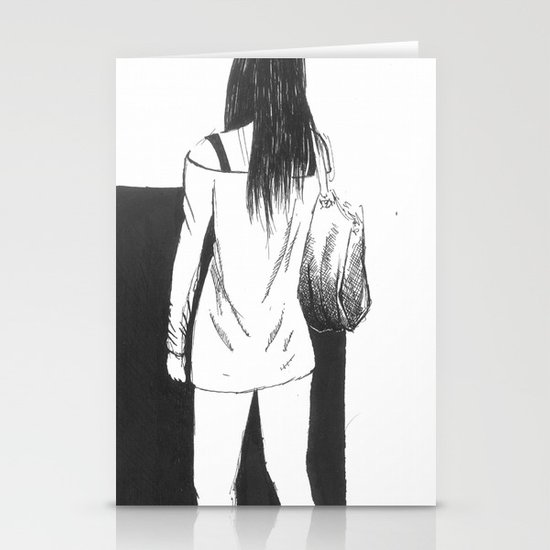 bag girl Stationery Card