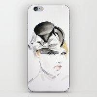 Ella Gajewska Hat. Top Hat. Fashion Illustration iPhone & iPod Skin