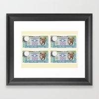 500 Lire Money Note  Framed Art Print