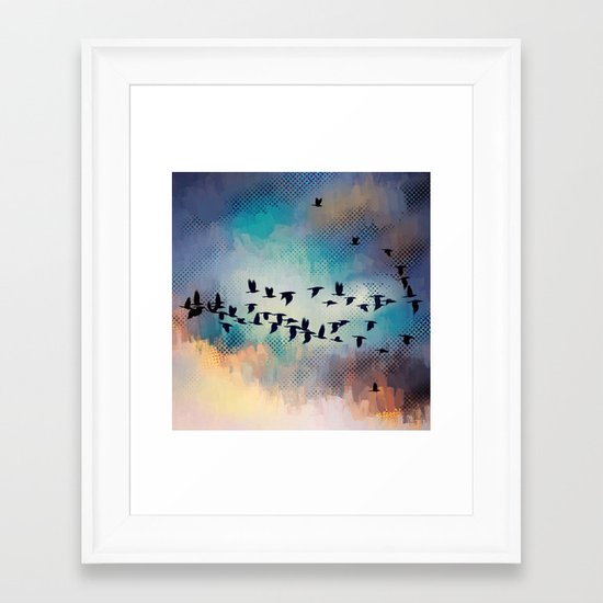 Flock Together Framed Art Print