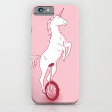 Unicorn on a unicycle - pink iPhone 6s Slim Case