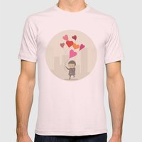 The Love Balloons Mens Fitted Tee Light Pink SMALL