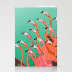 Fresco of the flamingoes. Stationery Cards
