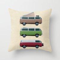 VW Camper Throw Pillow