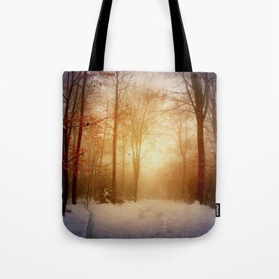 warm wintEr glOw Tote Bag