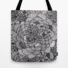 Ink flowers Tote Bag