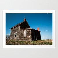 Abandon Farm House Art Print