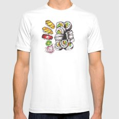 Sushi Dinner. SMALL White Mens Fitted Tee