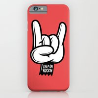 iPhone & iPod Case featuring Keep on Rockin by Johnny Cobalto
