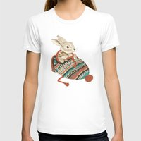 bunny T-shirts featuring cozy chipmunk by Laura Graves