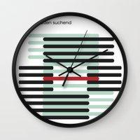 bodenschätzen suchend Wall Clock
