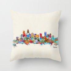 Charlotte North Carolina skyline Throw Pillow