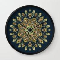 Gardenia Window Mandala  Wall Clock