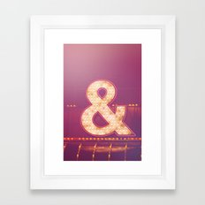 Neon Ampersand Framed Art Print
