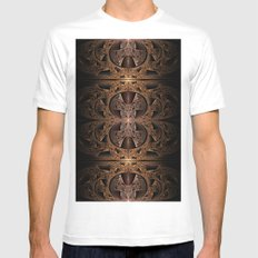Steampunk Engine Abstract Fractal Art Mens Fitted Tee White SMALL