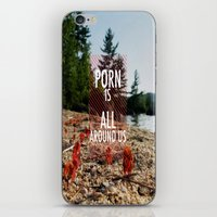 Porn is all around us iPhone & iPod Skin