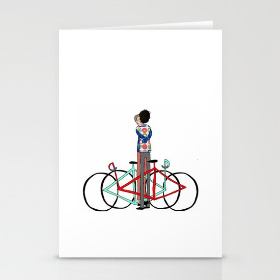 BIKE LOVE - bike hugging Stationery Card