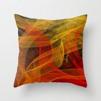 Warm Color Collab Throw Pillow