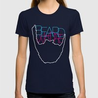 Beard Whore [ver.1] Womens Fitted Tee Navy SMALL