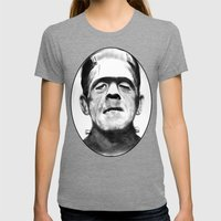 Frankenstein Womens Fitted Tee Tri-Grey SMALL