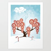 Magic Candy Tree - V3 Art Print