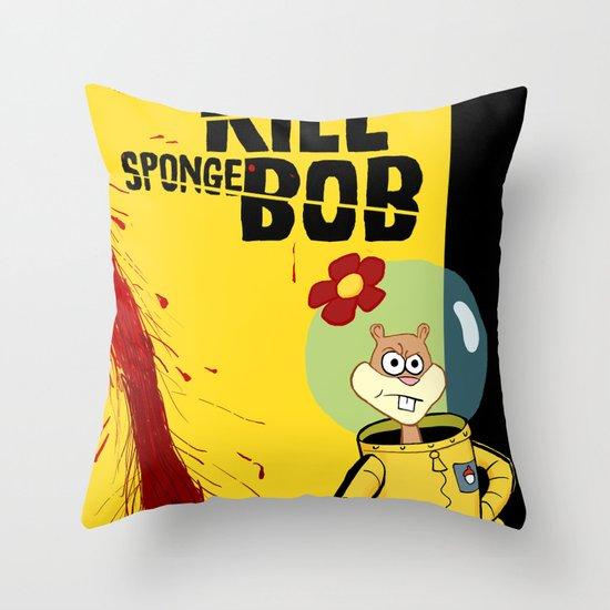 Kill Spongebob Throw Pillow