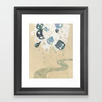 Out of All Them Bright Stars II Framed Art Print