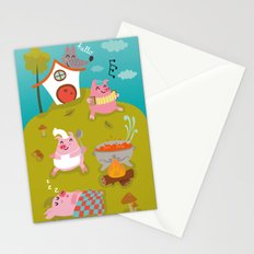 Three little PIG Stationery Cards