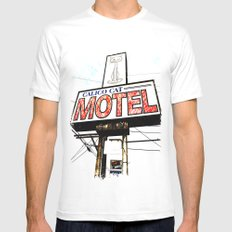 Kitty Motel SMALL White Mens Fitted Tee