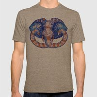 Elephant Mens Fitted Tee Tri-Coffee SMALL