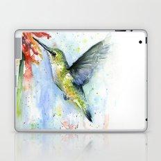 Hummingbird and Red Flower Watercolor Laptop & iPad Skin